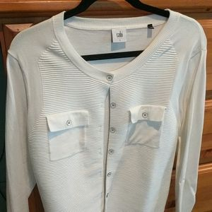 Cabi Fencing Button Up Sweater